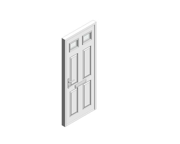 bimstore 3D image of Bowater - Composite Door – Alnwick