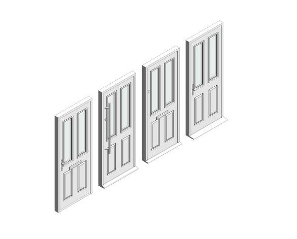 bimstore 3D all image of Bowater - Composite Door – Bede
