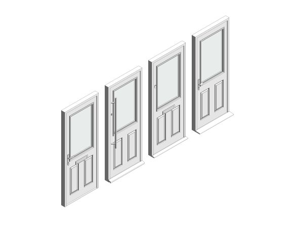 bimstore 3D all image of Bowater - Composite Door – Lindisfarne