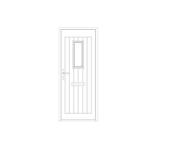 bimstore front image of Bowater - Composite Door – Maple