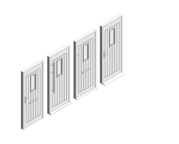 bimstore 3D all image of Bowater - Composite Door – Maple