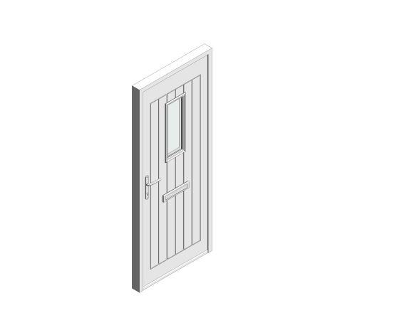 bimstore 3D image of Bowater - Composite Door – Maple