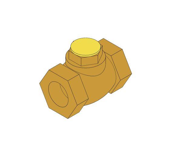 Product: D104 - Lift Check Valve - Bronze