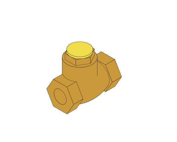 Product: D140 - Swing Check Valve With Resilient Disc - Bronze