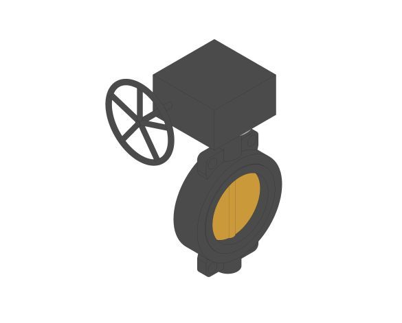 Product: F627 - Semi-Lugged Gearbox Operated Butterfly Valves - Ductile Iron