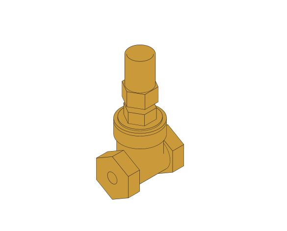 "Product: D235 - Gate Valve (1/2"" - 2"") - Bronze"