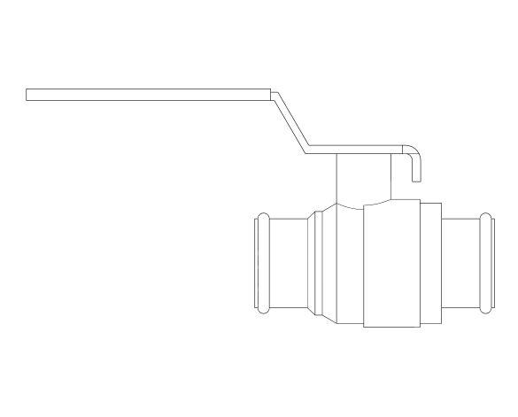 Product: DZR Press Fit Ball Valve - Lever - D172A.PF