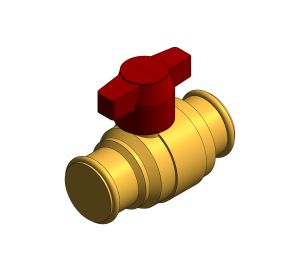 Product: DZR Press Fit Ball Valve - T Handle - D172ATH.PF