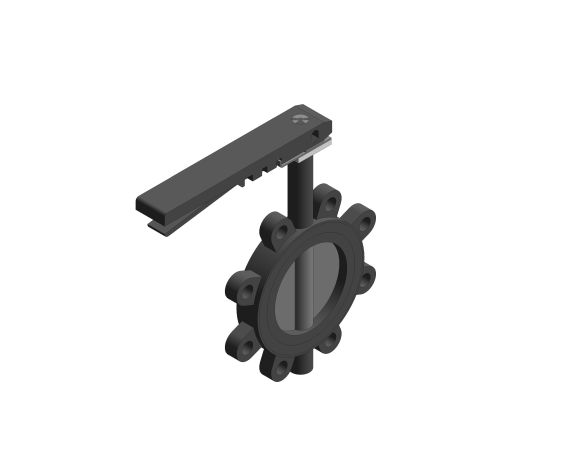 Image of Butterfly Valve Ductile Iron Fully Lugged Lever Operated - F631