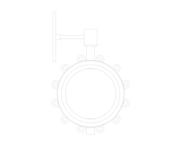 Image of Butterfly Valve Ductile Iron Fully Lugged Gearbox Operated - F632