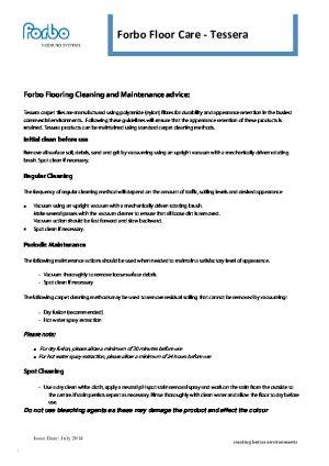 Maintenance Information