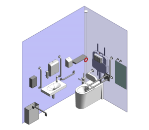 Product: BACK TO WALL DOC M WC SET