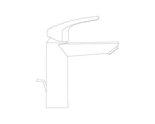 Product: Eurosmart - Single-Lever Basin Mixer 1/2″ M-Size - 23322003