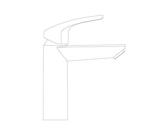 Product: Eurosmart - Single-Lever Basin Mixer 1/2″ M-Size - 23324003