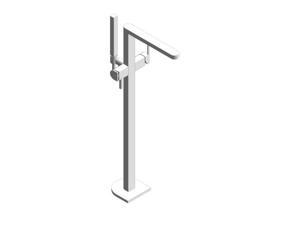 "Product: Plus Single-Lever Bath Mixer 1/2"" Floor Mounted - 23846003"