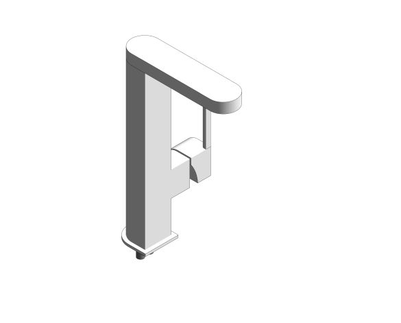 "Product: Plus Single Lever Basin Mixer 1/2"" with Temperature Display L-Size - 23850003"