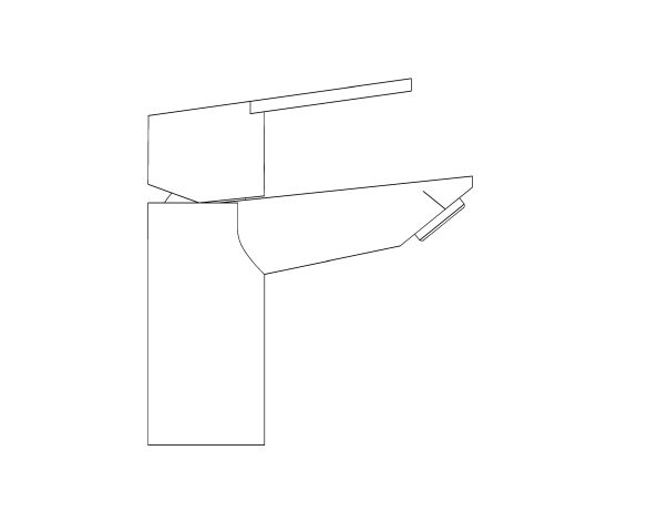 bimstore side image of the Grohe BauEdge Basin Mixer - 24193001