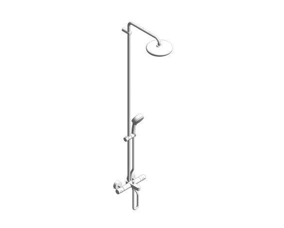 bimstore 3D image of the Grohe Tempesta Cosmopolitan System 210 -  Shower system with bath thermostat for wall mounting - 26223001