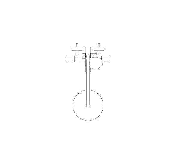 bimstore plan image of the Grohe Tempesta Cosmopolitan System 210 -  Shower system with bath thermostat for wall mounting - 26223001