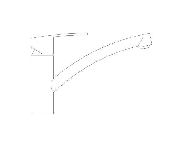 bimstore side image of the Grohe Eurosmart Sink Mixer - 30506000