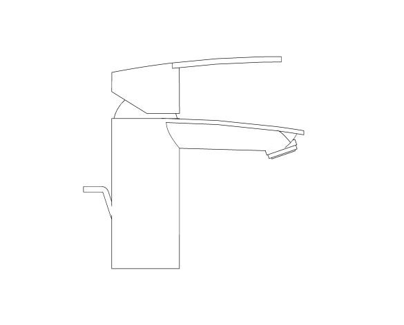 bimstore side image of the Grohe Eurostyle Cosmopolitan Basin Mixer S Size - 33552002