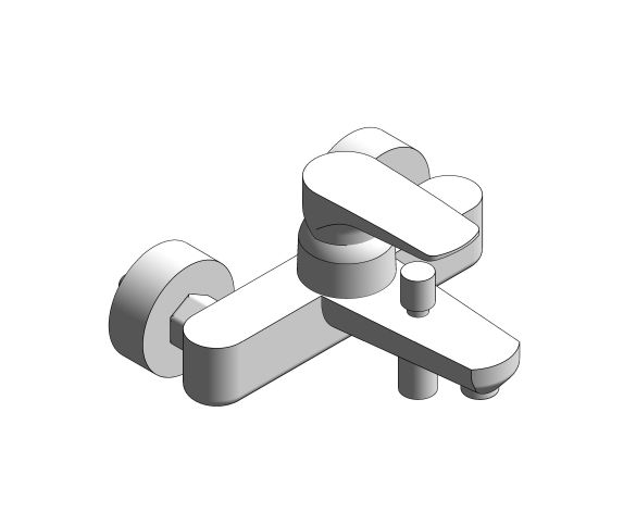 bimstore 3D image of the Grohe EuroStyle Cosmopolitan Bath Mixer - 33591002