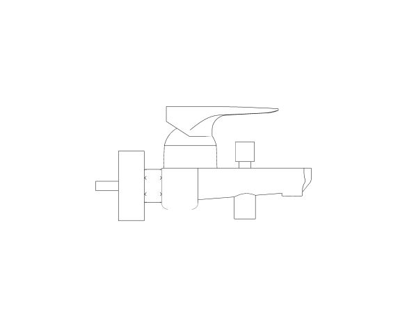 bimstore side image of the Grohe EuroStyle Cosmopolitan Bath Mixer - 33591002
