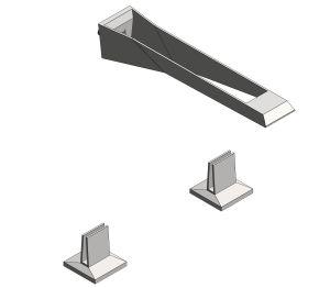 Product; Allue Brillant Icon 3D 3 Hole Wall Mount Basin Mixer- 20608SD0
