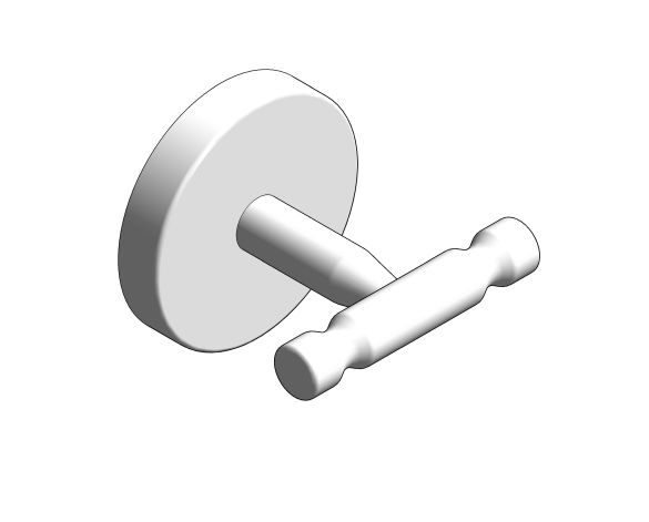 bimstore 3D image of the BauCosmopolitan Robe Hook - 40461001 from Grohe