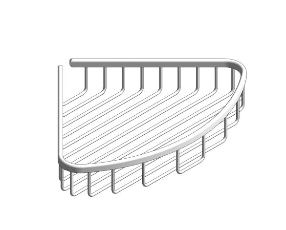 bimstore 3D image of the BauCosmopolitan Soap Wire Basket - 40663001 from Grohe