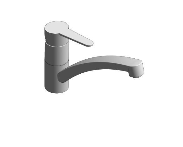 bimstore 3D image of the BauCurve OHM Sink Mixer - Low Spout - 31680000 from Grohe