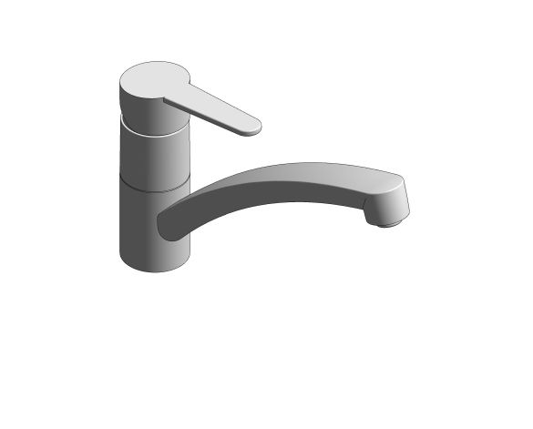bimstore 3D image of the BauCurve OHM Sink Mixer - Low Spout AUS - 31683000 from Grohe
