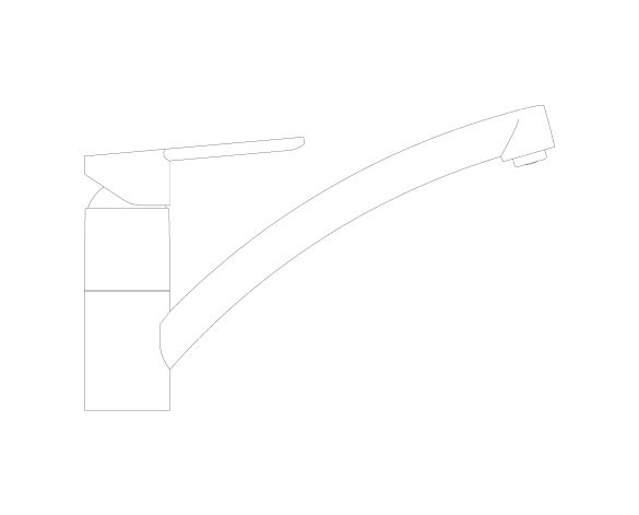 bimstore side image of the BauCurve OHM Sink Mixer - Low Spout AUS - 31683000 from Grohe