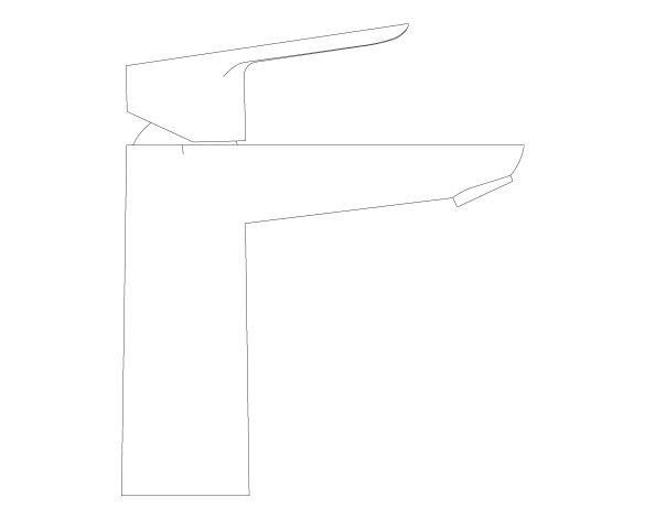 bimstore side image of the Bauedge Basin Mixer M Size - 23759000 from Grohe