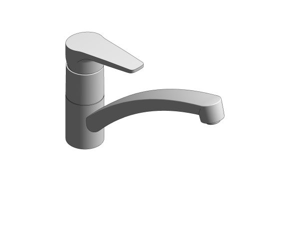 bimstore 3D image of the BauCurve OHM Sink Mixer - Low Spout FR NF - 31682000 from Grohe