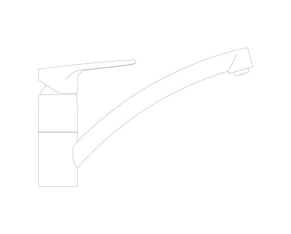 bimstore side image of the BauCurve OHM Sink Mixer - Low Spout FR NF - 31682000 from Grohe