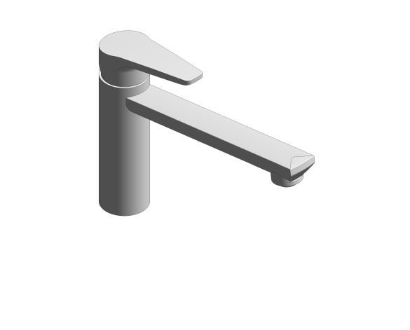 bimstore 3D image of the BauCurve OHM Sink Mixer - Medium Spout - 31693000 from Grohe