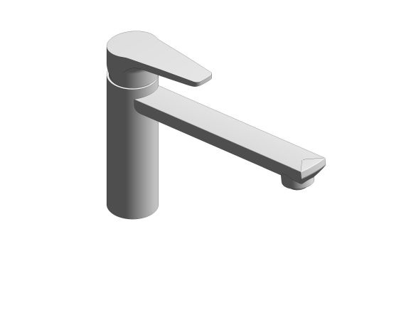 bimstore 3D image of the BauCurve OHM Sink Mixer - Medium Spout FR NF - 31694000 from Grohe