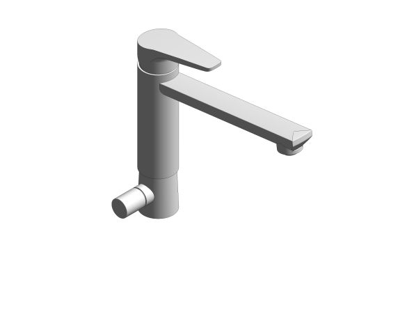bimstore 3D image of the BauCurve OHM Sink Mixer - Medium Spout SoV - 31696000 from Grohe