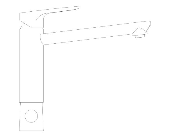bimstore side image of the BauCurve OHM Sink Mixer - Medium Spout SoV - 31696000 from Grohe