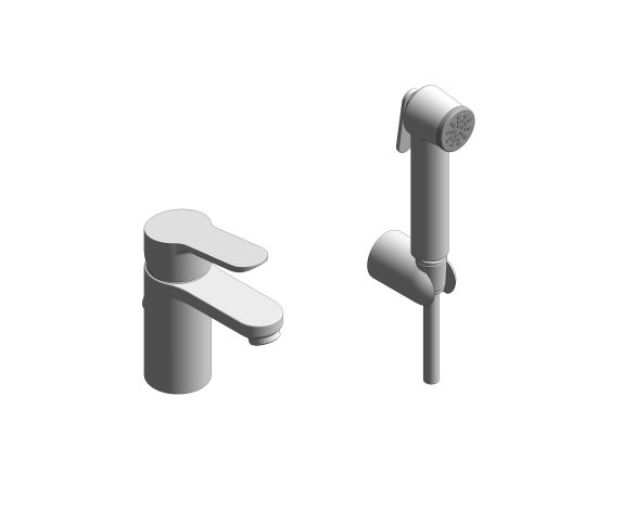 """bimstore 3D image of the BauEdge Single Lever Basin Mixer 1/2"""" S-Size - 23964000 from Grohe"""