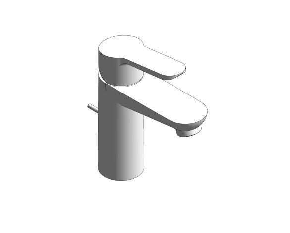 bimstore 3D image of the Bauedge Single Lever Basin Mixer S Size - 32819000 from Grohe