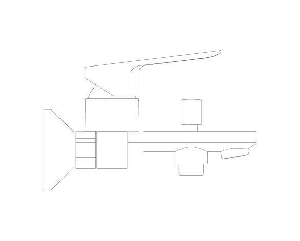 bimstore side image of the Bauedge Single Lever Bath Shower Mixer - 23605000 from Grohe