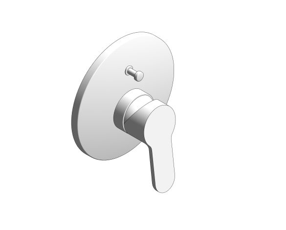 bimstore 3D image of the Bauedge Single Lever Bath Shower Mixer - 29079000 from Grohe