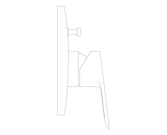 bimstore side image of the Bauedge Single Lever Bath Shower Mixer - 29079000 from Grohe