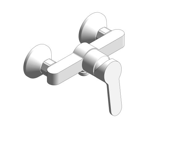 bimstore 3D image of the Bauedge Single Lever Shower Mixer - 23636000 from Grohe