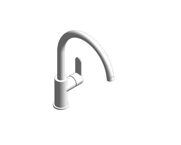 bimstore 3D image of the Bauedge Single Lever Sink Mixer - 31233000 from Grohe