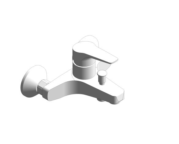 bimstore 3D image of the BauFlow Single Lever Bath Mixer - 23601000 from Grohe