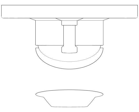 bimstore plan image of the BauFlow Single Lever Bath Mixer - 29045000 from Grohe