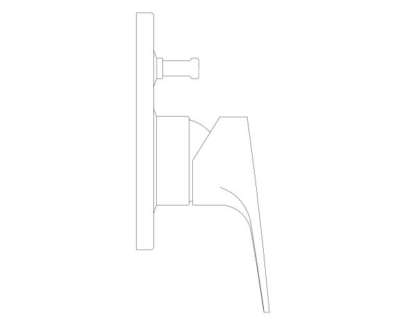 bimstore side image of the BauFlow Single Lever Bath Mixer - 29045000 from Grohe